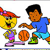 basketball coloring Kinderbasketball