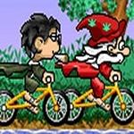 Fahrräder Gedränge