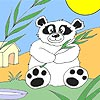 hungry panda coloring Hungrigen Panda anmalen