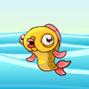 Springender Goldfisch